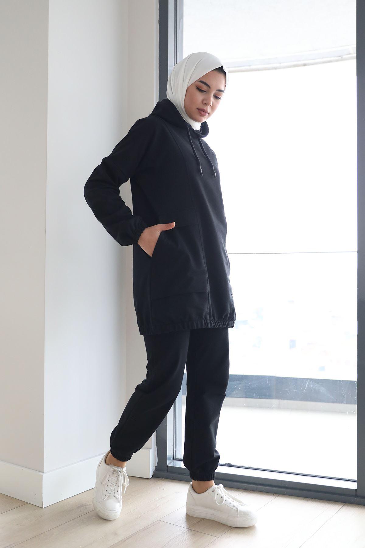 Cepli Sweatshirt-Siyah