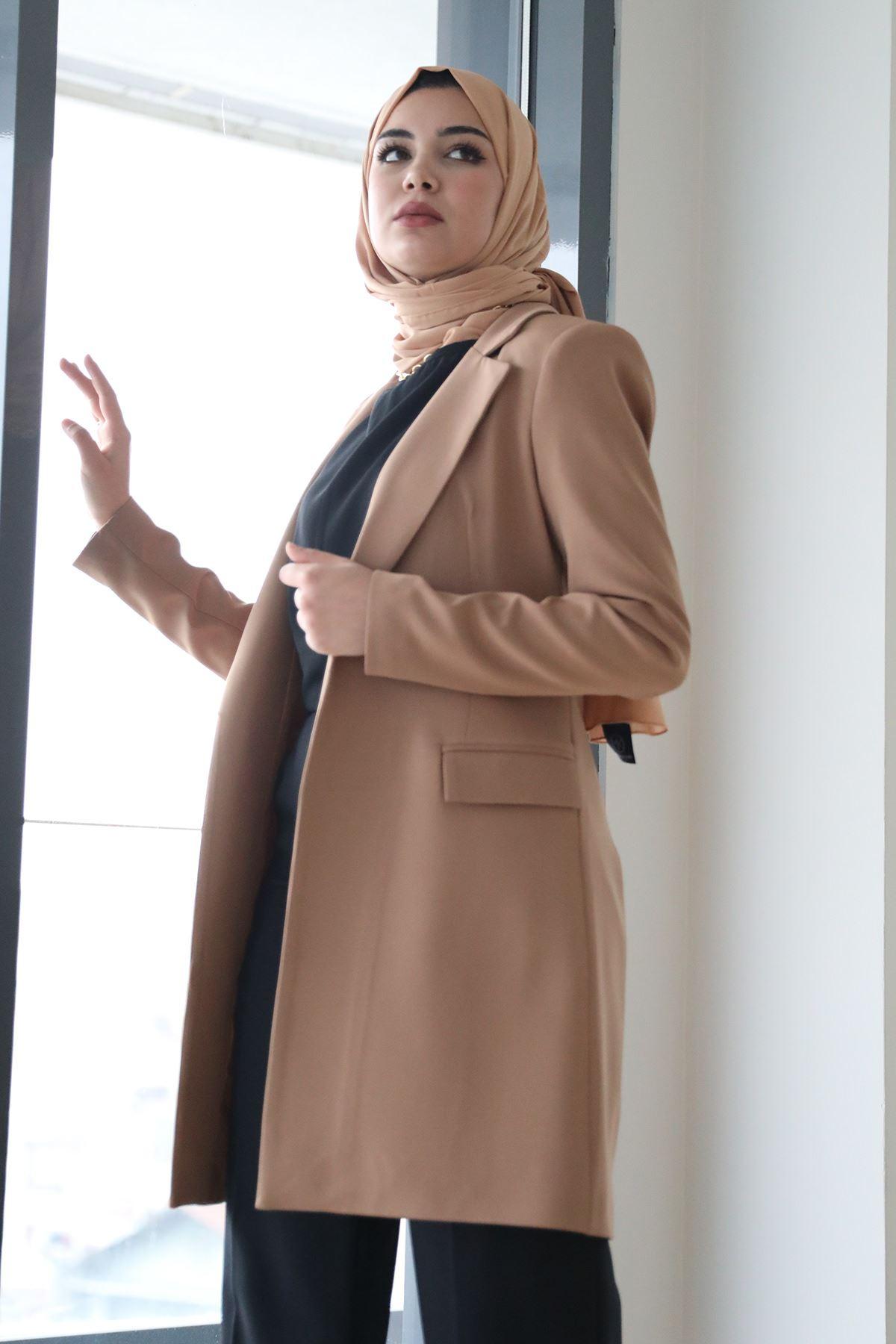 Uzun Ceket-Camel