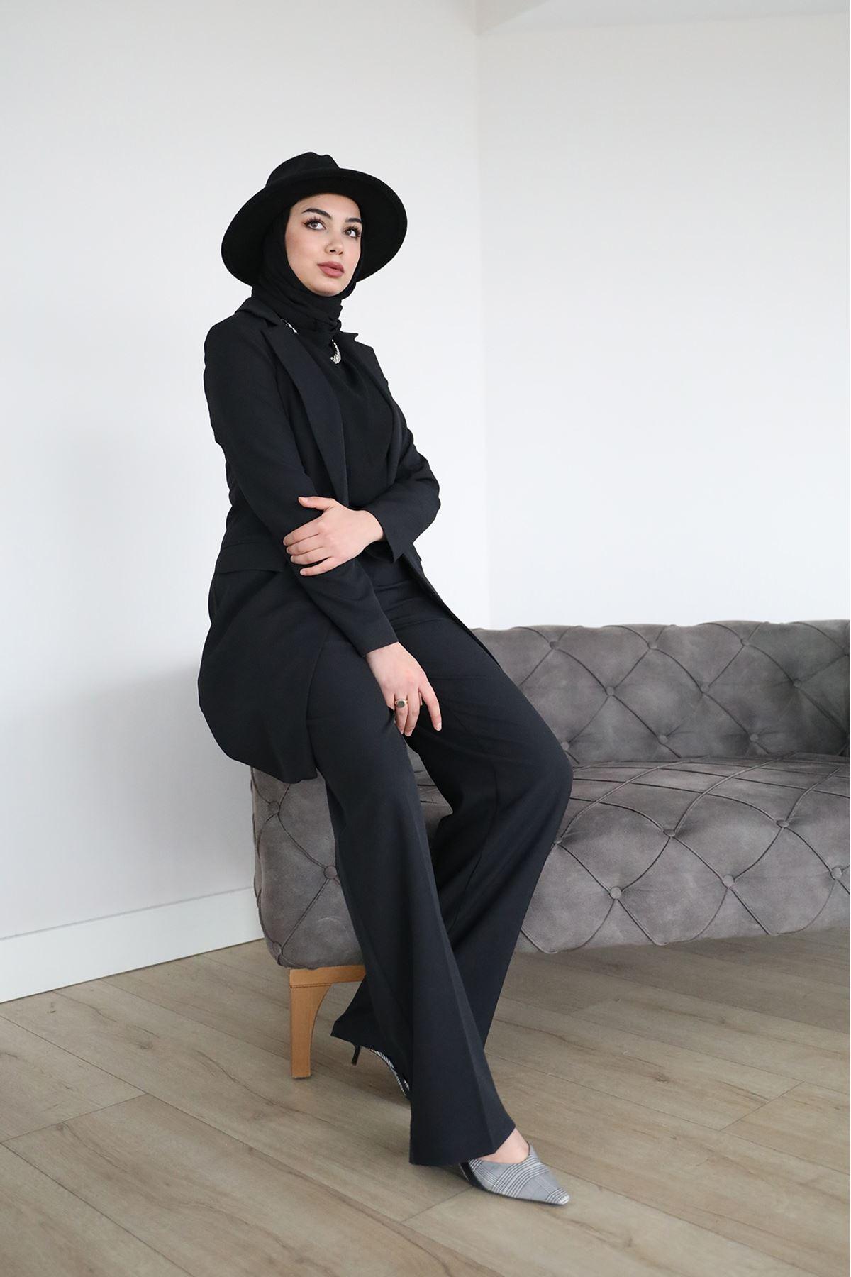 Uzun Ceket-Siyah