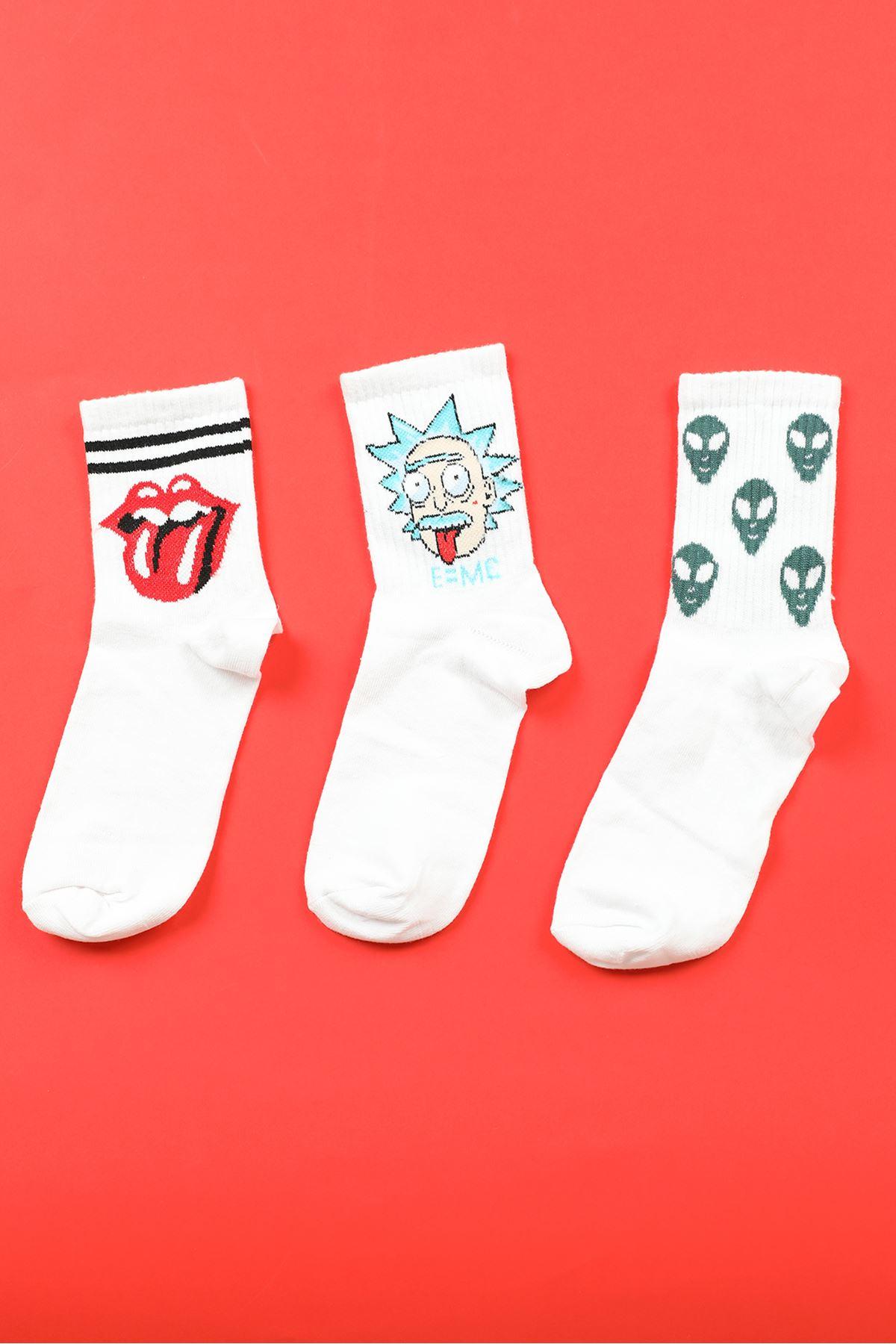 9'lu Kutu Çorap-Renkli