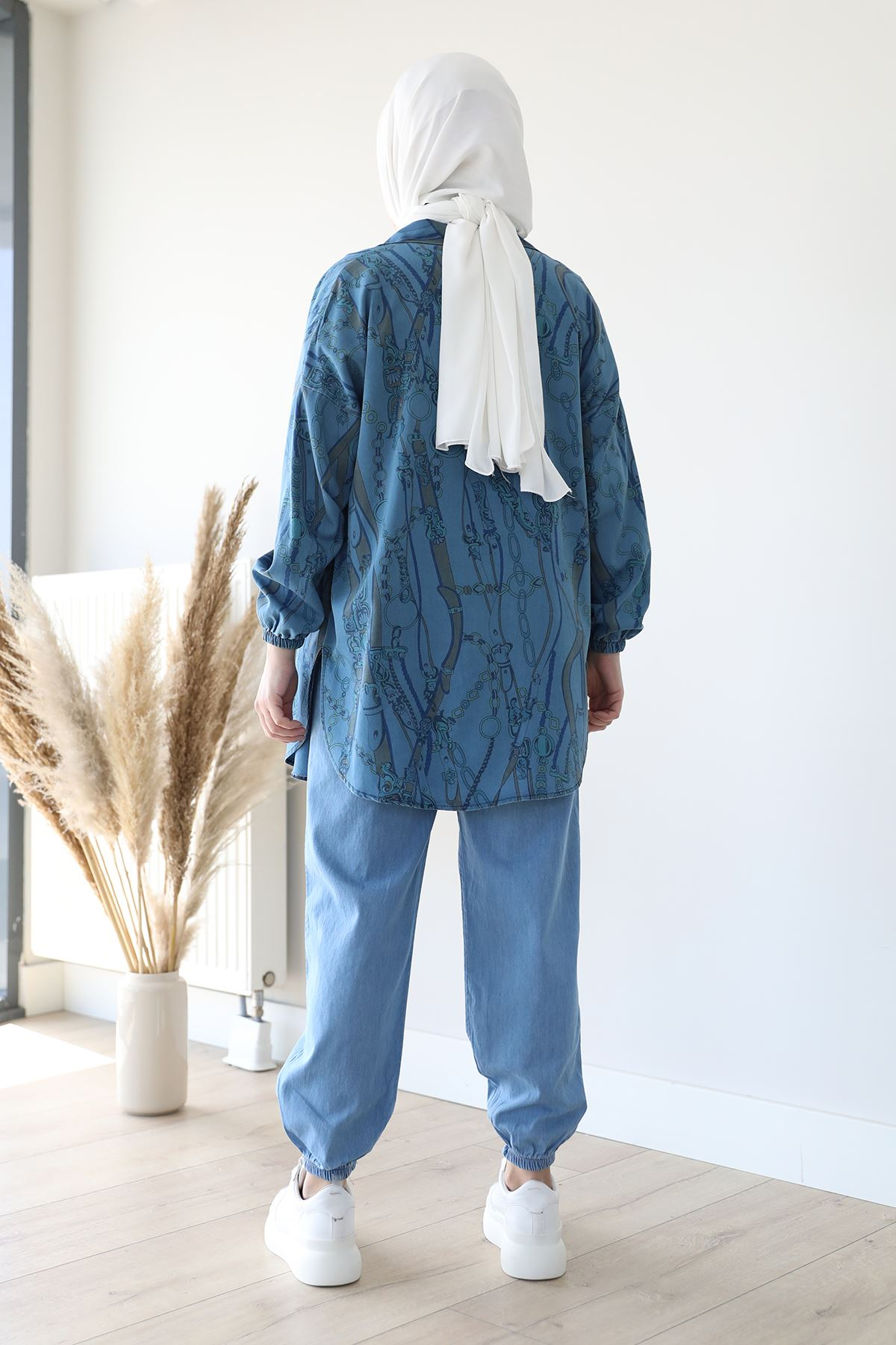 Jogger Pantolon-Mavi