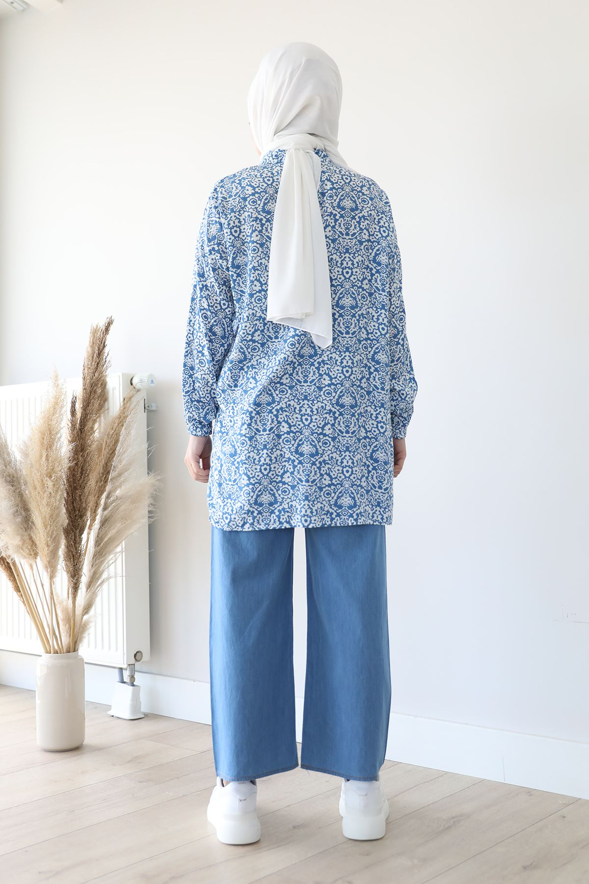 Bol Paça Pantolon-Mavi