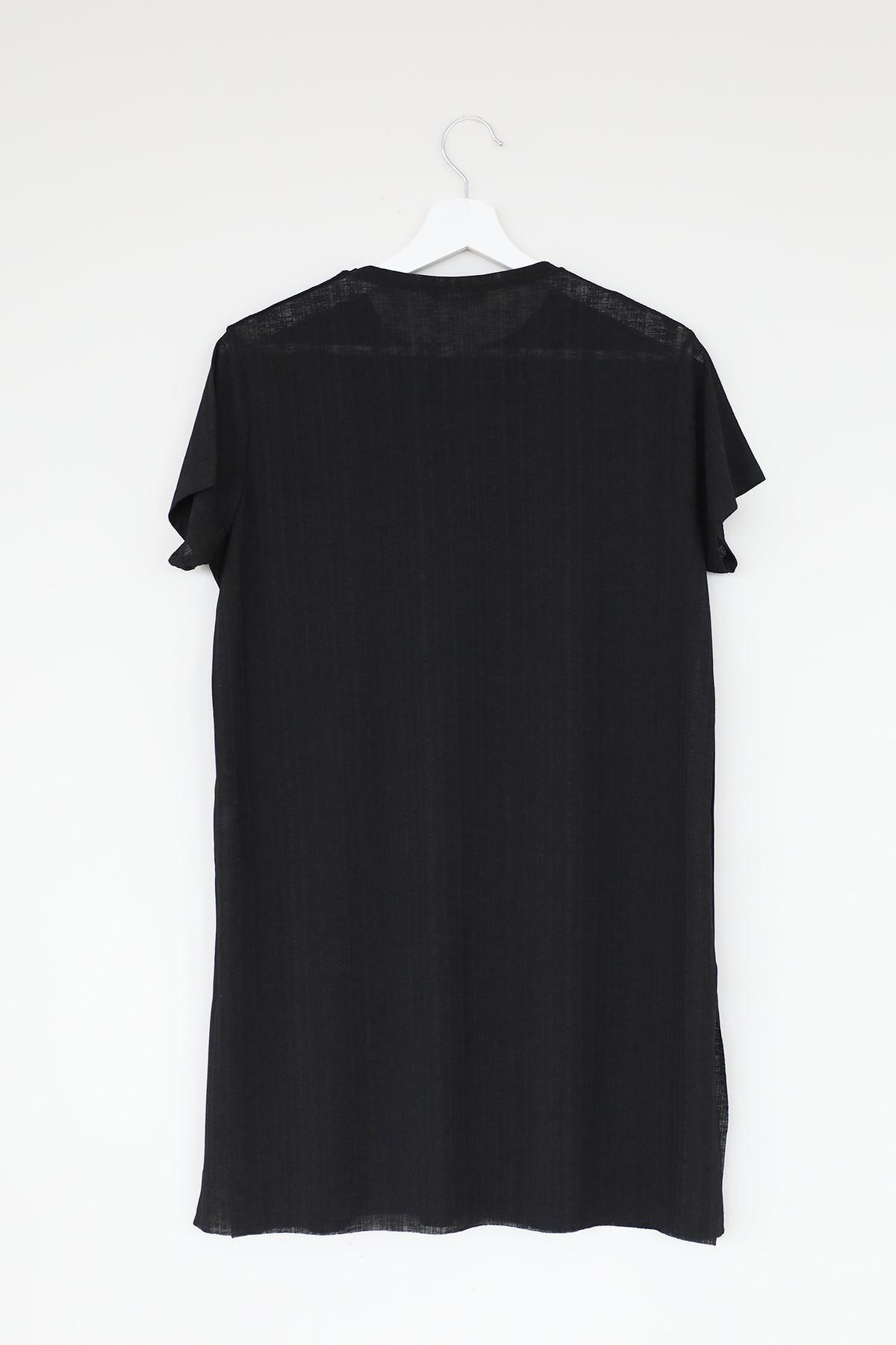 Dream Side Baskılı T-shirt-Siyah
