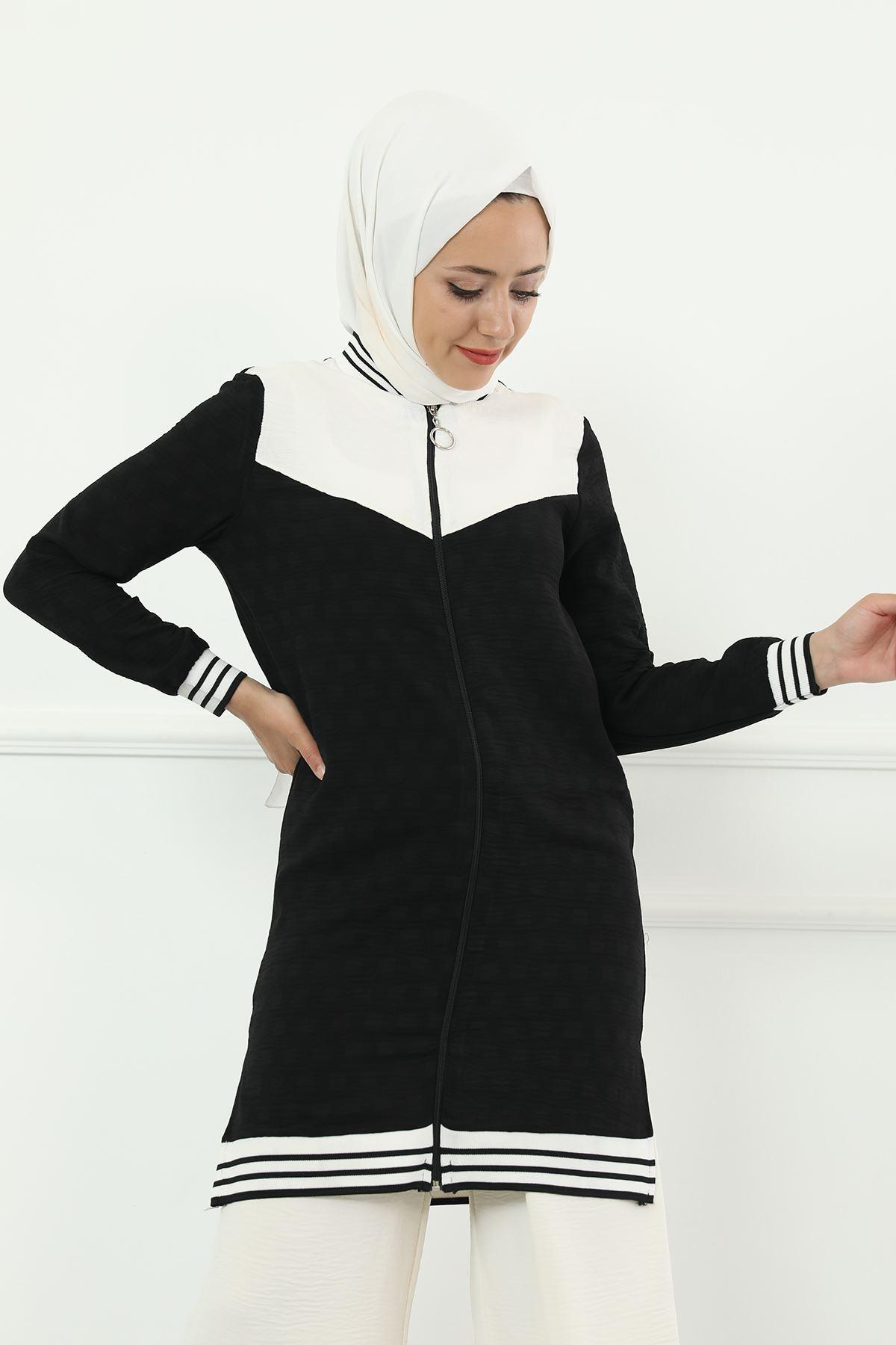 Fermuarlı Hırka-Siyah